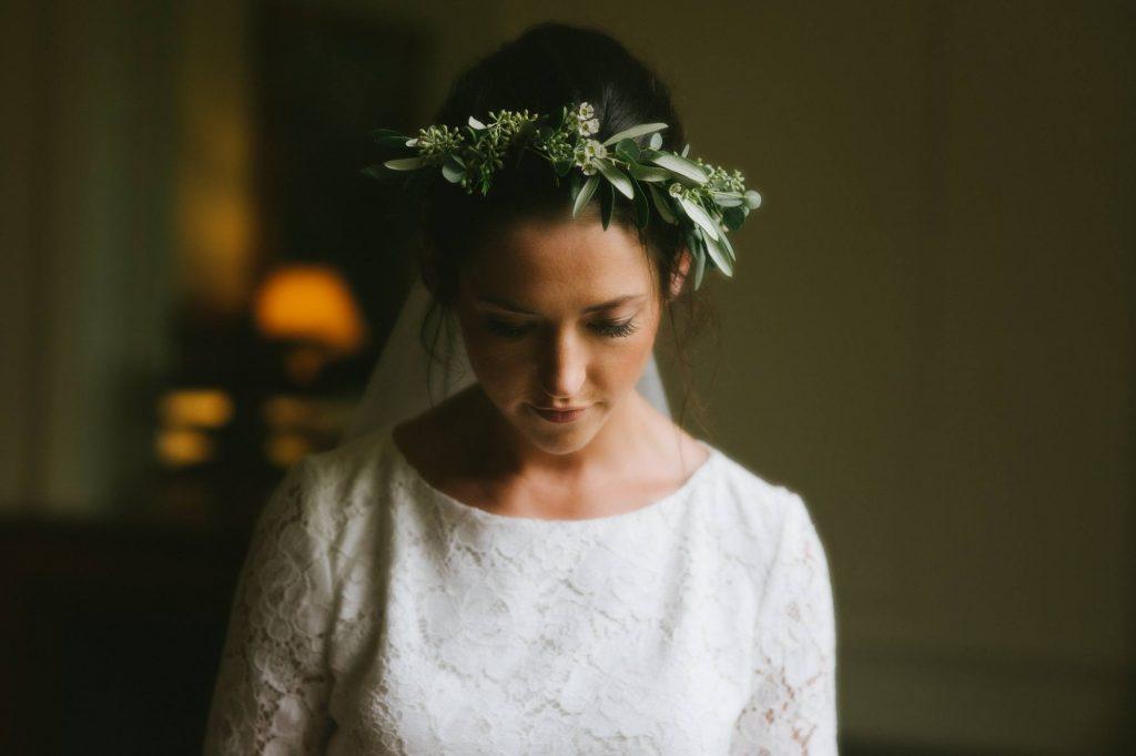 portrait de la mariée avant la cérémonie laïque